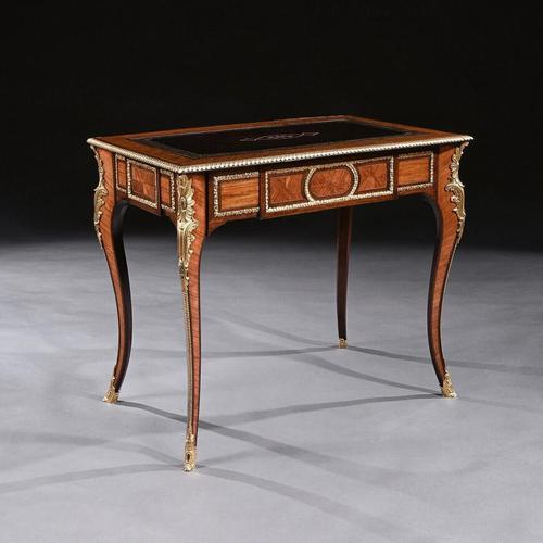 French 19th Century Gilt-Bronze Mounted Writing Table of Fine Quality (1 of 11)