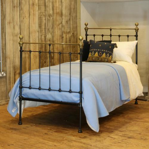 Black Straight Top Rail Victorian Single Antique Bed (1 of 5)