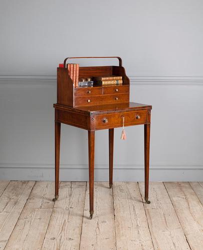 George III mahogany ladies writing desk or 'cheveret' (1 of 9)