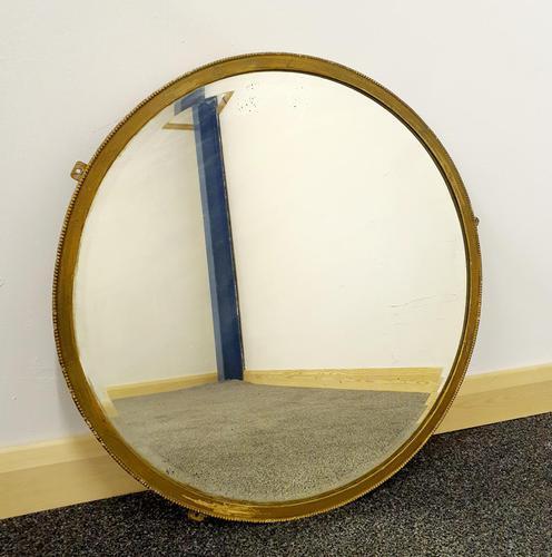 Edwardian Brasscrafter circular mirror (1 of 8)
