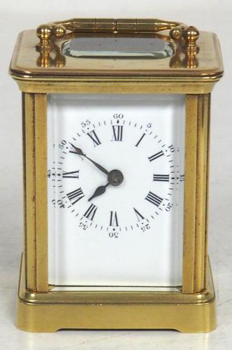 Superb Miniature French 8 Day Carriage Clock Lever Platform c.1880 Working (1 of 10)