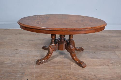 Victorian Walnut Coffee Table (1 of 3)