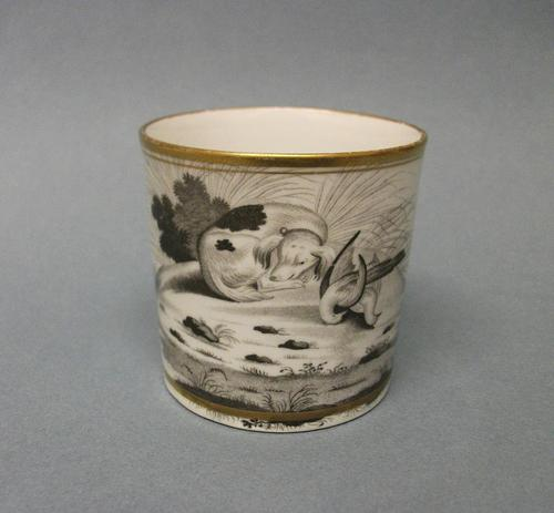 Spode Bat Printed Coffee Can c.1810 (1 of 5)