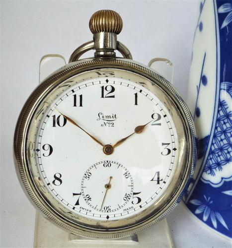 Large 1920s Limit No 2 Pocket Watch (1 of 3)
