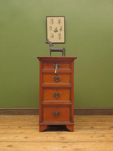 Antique Narrow Office Chest of Drawers (1 of 17)