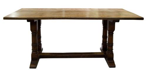 17th Century Style Oak Refectory Table c.1920 (1 of 5)