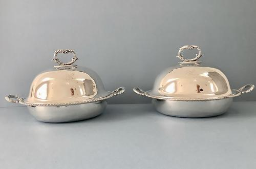 Pair of Storr Georgian Silver Entree Dishes 1792 (1 of 9)
