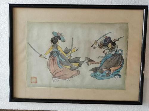 Lovely 19th Century Chinese Watercolour (1 of 6)