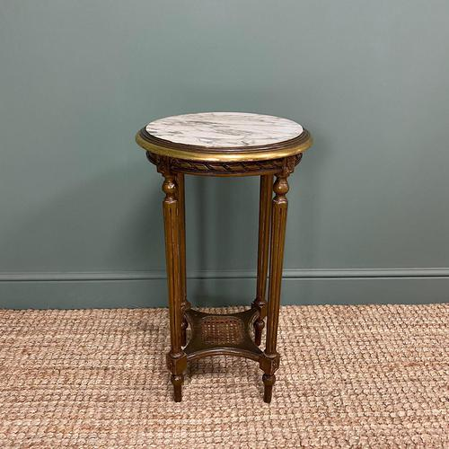 Small Country House Gilt Antique Occasional Table (1 of 6)