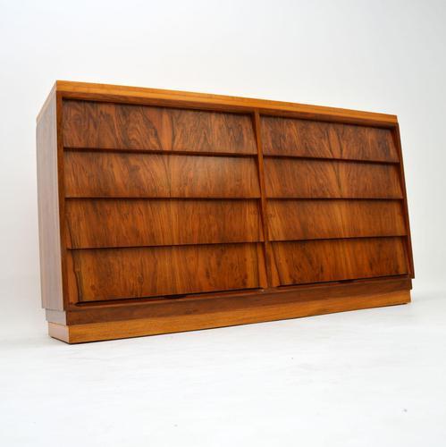 1950's Vintage Walnut & Satin Birch Chest of Drawers (1 of 11)