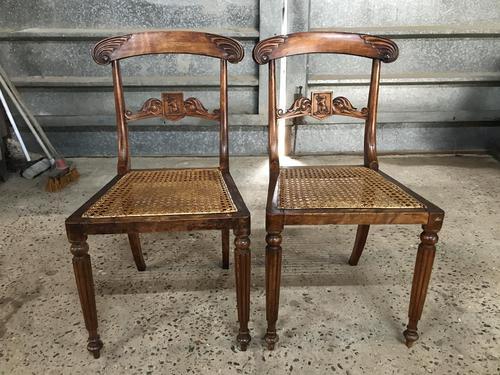Pair of Beautiful Regency Chairs (1 of 4)
