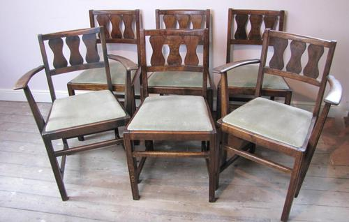 Set of 6 Early Ercol Dining Chairs (1 of 11)
