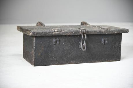 Antique Hinged Lid Strong Box (1 of 12)