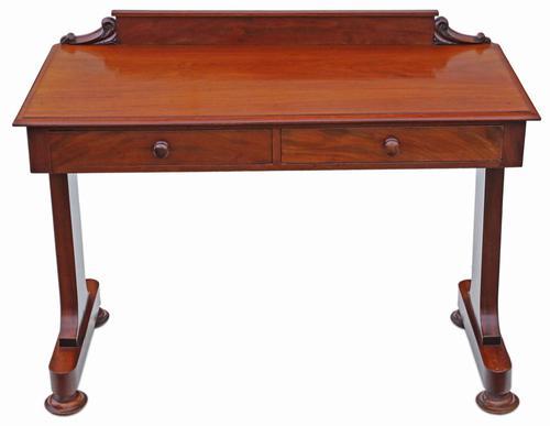 Victorian 19th Century Mahogany Writing Desk / Dressing Table (1 of 8)