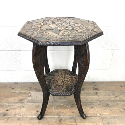 Early 20th Century Carved Side Table (1 of 9)