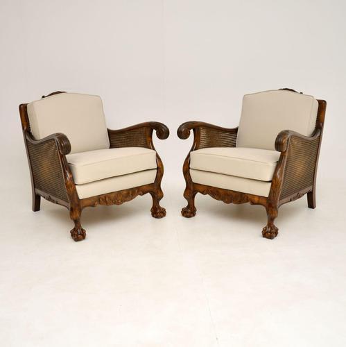 Pair of Swedish  Satin Birch Bergere Armchairs (1 of 12)