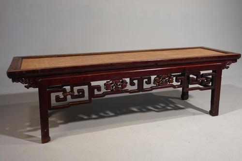 Rare Early 20th Century Elm Ladies Opium Bed (1 of 4)