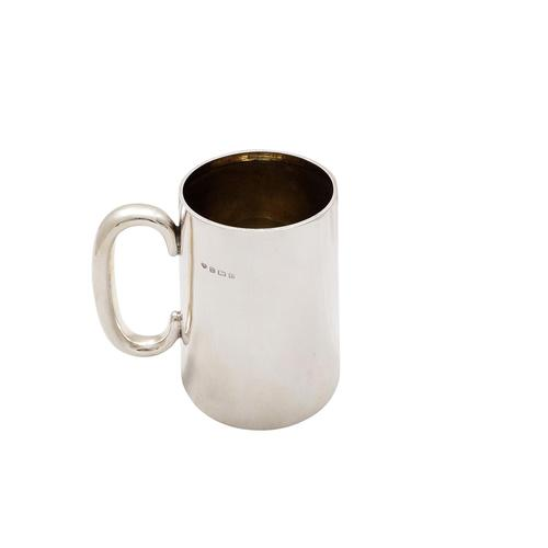 Antique Sterling Silver Pint Mug / Tankard with Glass Bottom 1929 (1 of 8)