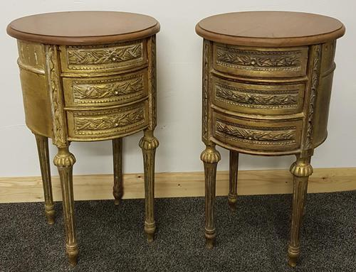 Two near identical louis XIV style bedsides (1 of 4)