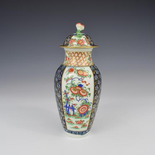 First Period Worcester Porcelain Kakiemon Vase & Cover Ex-zorensky (1 of 13)