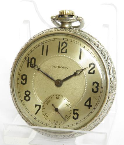 1930s Medora Pocket Watch (1 of 4)