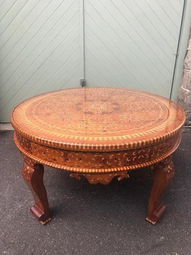 Antique Inlaid Syrian Coffee Table (1 of 12)