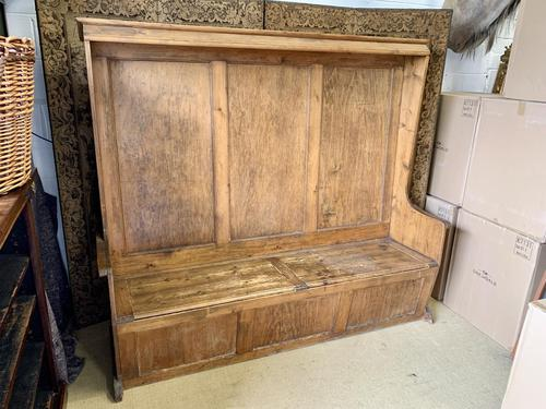 19th Century Pine Hall Bench (1 of 5)