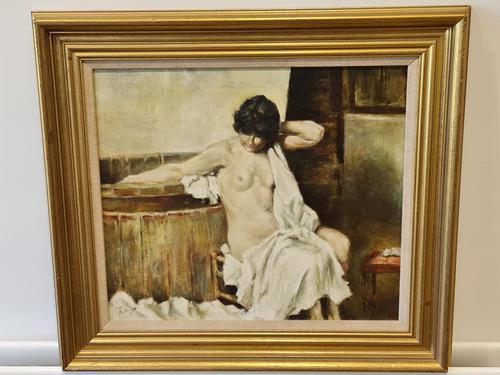 Franco Matania Nude - Italian / British Oil on Canvas (1 of 8)