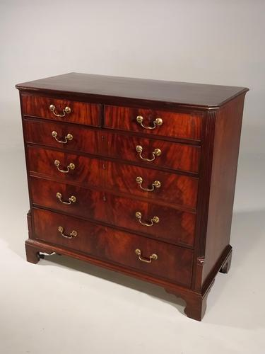 Unusual George III Period Mahogany Chest of Drawers (1 of 5)