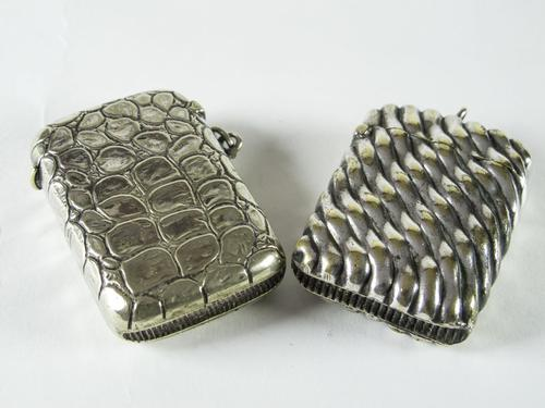 Two Edwardian Plated Vesta Cases (1 of 4)