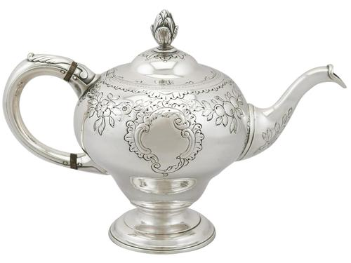 Scottish Sterling Silver Teapot - Antique George III (1 of 16)