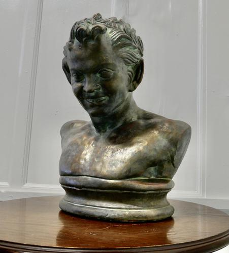 Bust of a Young Satyr in a Bronze Patina (1 of 7)