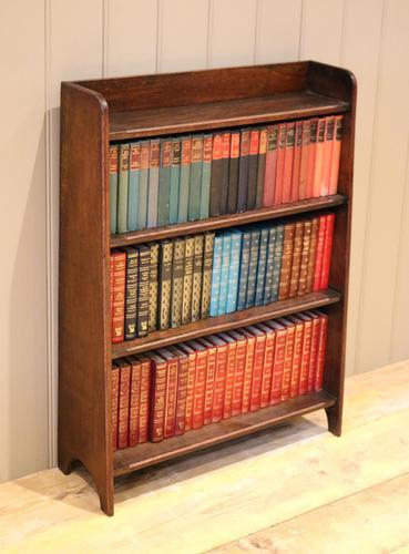 Small Graduated Open Oak Bookcase (1 of 10)