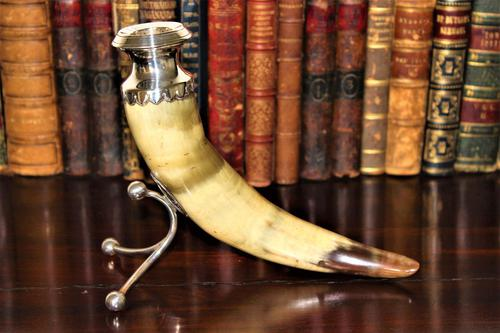 Fine & Decorative Horn & Silver Victorian Candlestick (1 of 7)