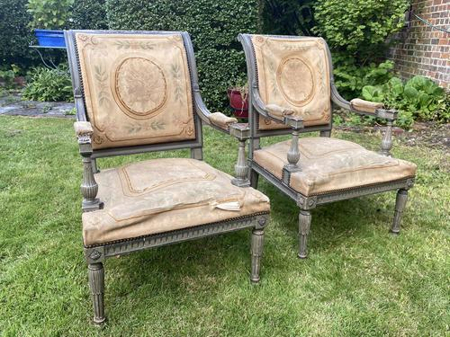 Pair of Directoire Style Armchairs (1 of 6)