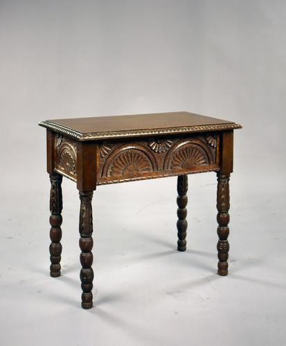1930s Oak Carved Stool (1 of 8)