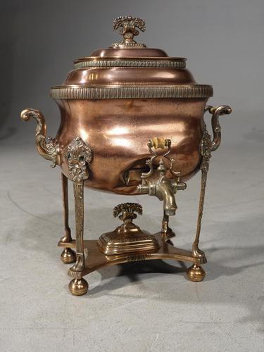 Handsome & Original Regency Period Copper Tea Urn (1 of 5)
