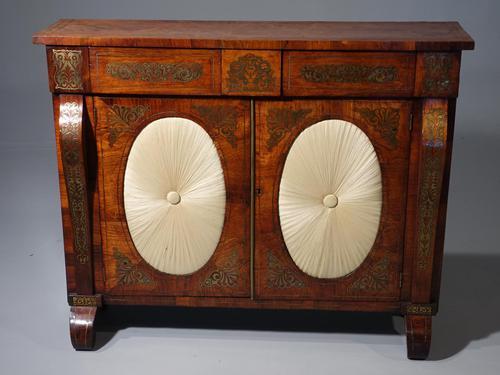 Very Fine Quality Slender Regency Brass Inlaid Side Cabinet (1 of 5)