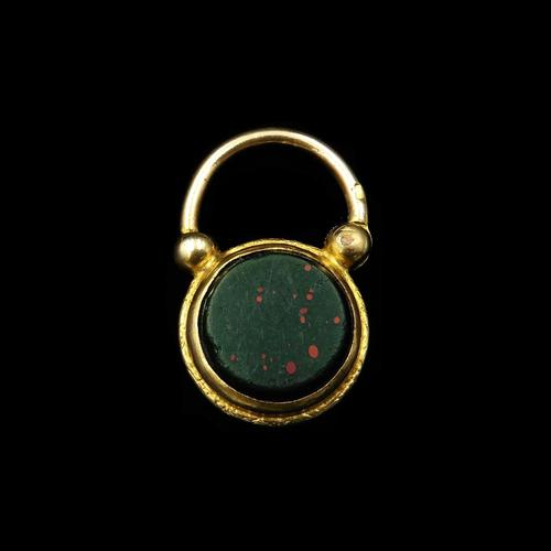 Antique Bloodstone Agate Yellow Gold Cased Padlock (1 of 4)