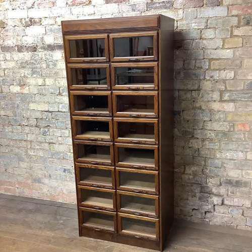 1930s Dark Oak Haberdashery Cabinet (1 of 3)