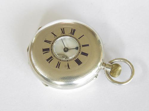 Antique Silver Half Hunter Pocket Watch (1 of 5)