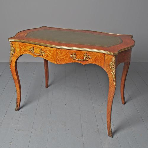 Antique Victorian Inlaid Kingwood Writing Table (1 of 14)