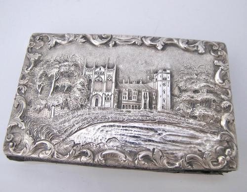 Magnificent William IV Silver Double Castle Top Aid Memoir Joseph Willmore Birmingham 1836 (1 of 9)