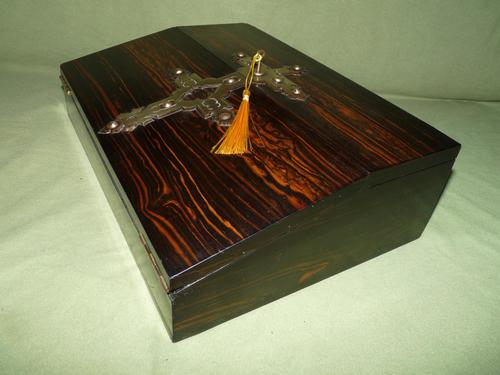 Quality Betjemann Coromandel Writing Box c.1870 (1 of 15)