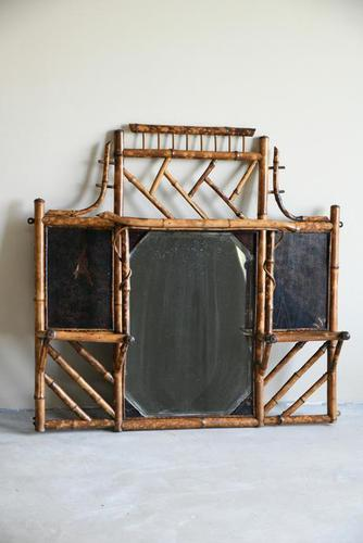 Antique Victorian Bamboo Mirror (1 of 9)