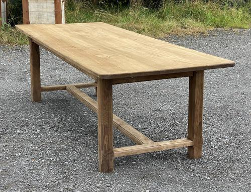 Large French Bleached Farmhouse Dining Table (1 of 26)