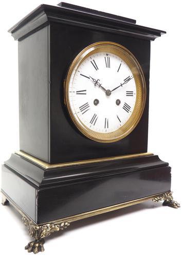 Antique French Slate & Ormolu Mantel Clock striking 8 day (1 of 11)