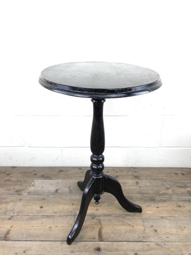 Antique Ebonised Wine Table with Oval Top (1 of 11)