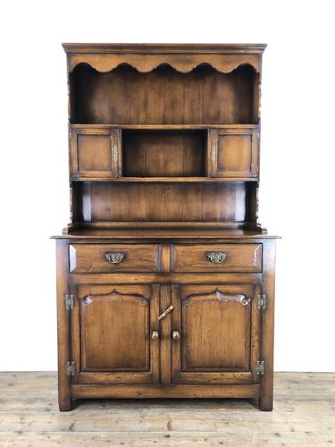 Quality Late 20th Century Oak Cottage Welsh Dresser (1 of 15)