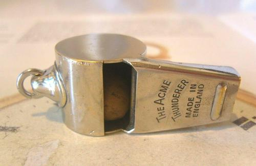 Vintage Pocket Watch Chain Whistle Fob 1940 Railway Or Police Fob (1 of 7)